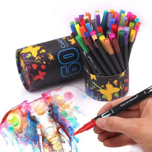 Dual Tip Brush Pens Art Marker Pens
