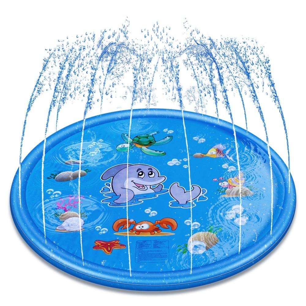 קיץ גינה חיצונית דשא ים בעלי חיים מתנפח מים קרים מתזים לילדים ממטרה אינטראקטיבית משחק כרית משחק אמבטיה צעצועי אמבטיה