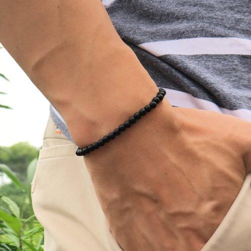 Natural Stone Mens Beaded Bracelet