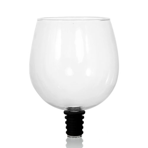 Glass Wine Topper Drinking Cup