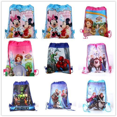 Drawstring Kids Bag Cartoon Design
