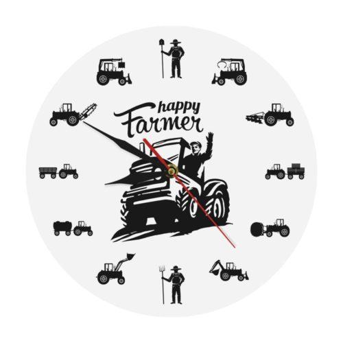 Farmer Clock Analog Wall Clock