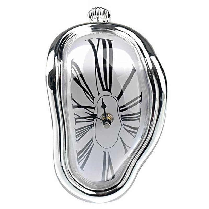 2019 New Novel Surreal Melting Distorted Wall Clocks Surrealist Salvador Dali Style Wall Watch Decoration Gift Home Garden