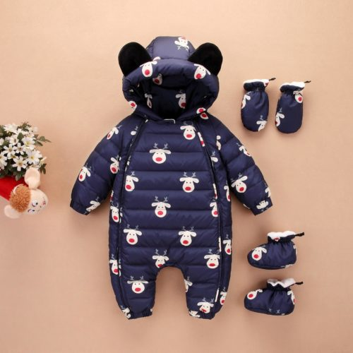 Baby Winter Suit Hooded Overall