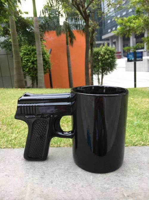 Gun Cup Ceramic Collectible Mug