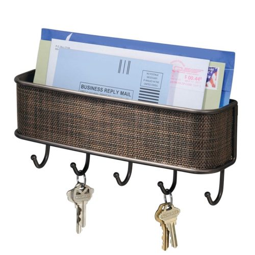 Key Rack with Mail Holder