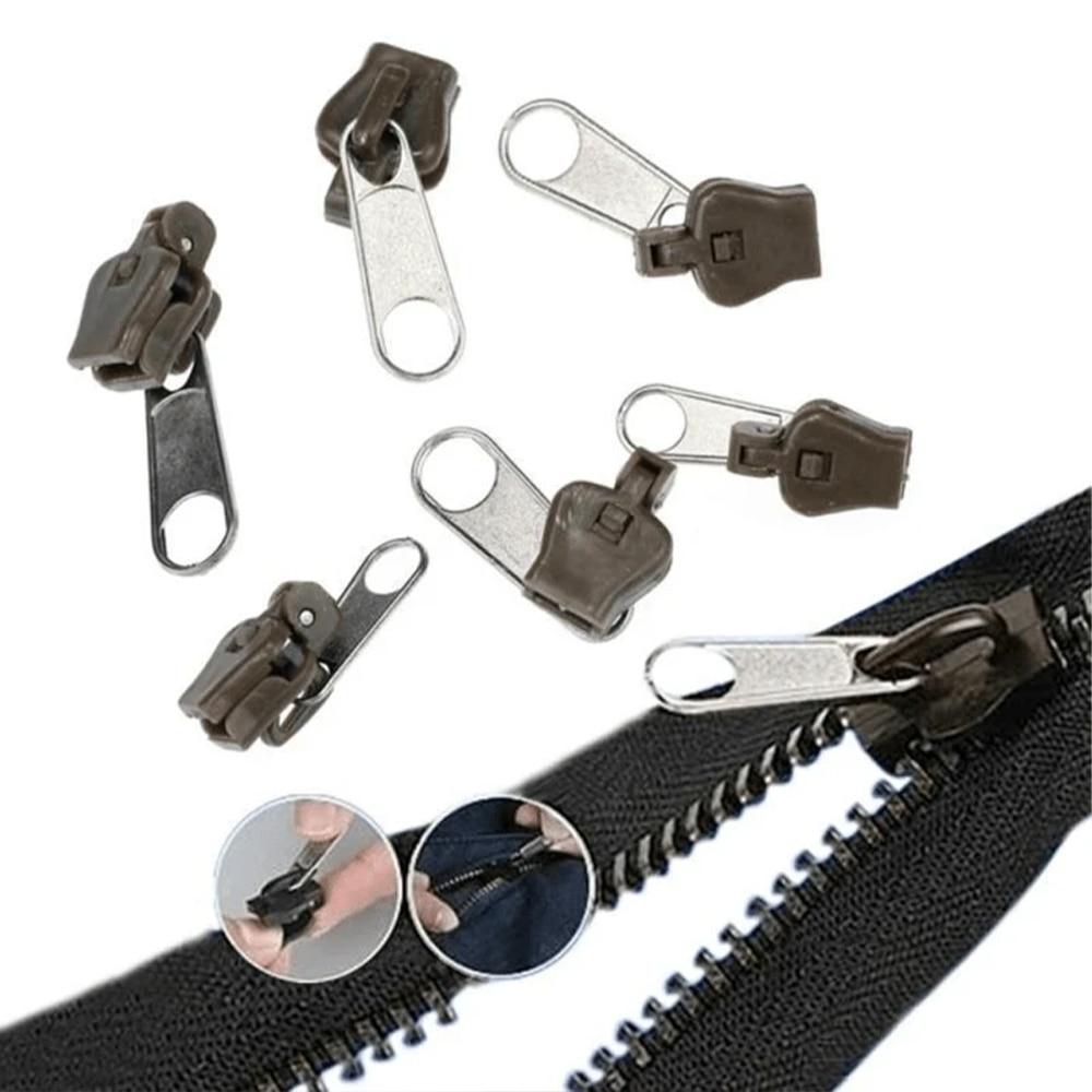 12/6Pcs Universal Slider Instant Fix Zipper Repair Kit Replacement Zipper Pull Teeth Rescue Zippers Sewing Clothes