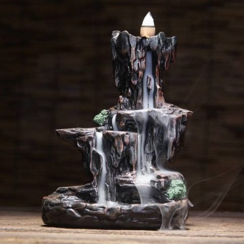 Incense Smoke Waterfall Burner with Cones