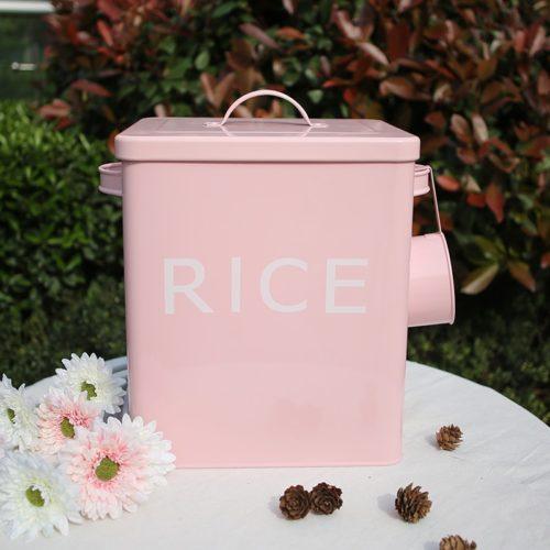 Rice Storage Box with Scooper