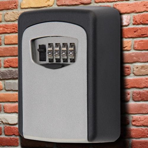 Combination Key Lock Wall Safe Box