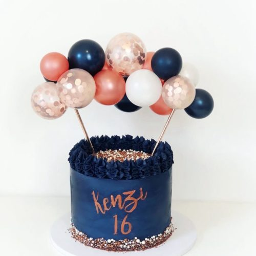 Mini Balloon Cake Topper 10-Piece Set