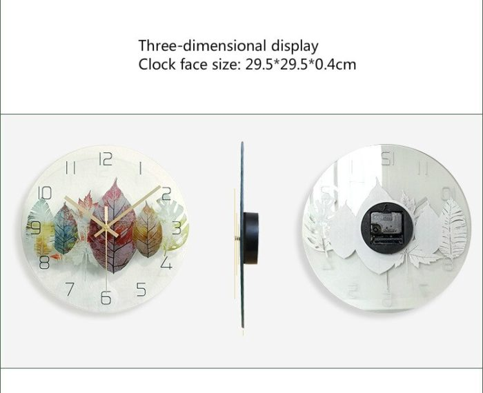 Creative Glass Wall Clock
