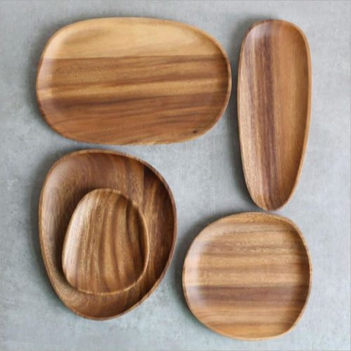 Solid Wooden Serving Plate