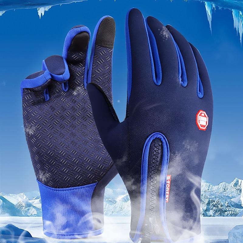 Waterproof Winter Warm Gloves Men Ski Gloves Snowboard Gloves Motorcycle Riding Winter Touch Screen Snow Windstopper Glove