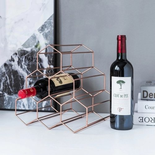 Tabletop Wine Rack Honeycomb Design
