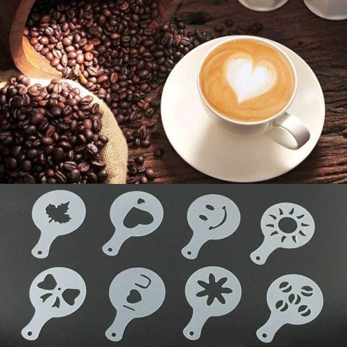 Coffee Art Stencils PP Templates (16pcs)