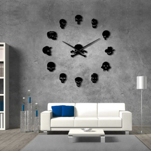 Skull Clock Boardless and Frameless