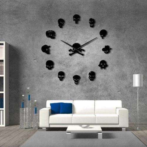 Skull Clock Boardless and Frameless