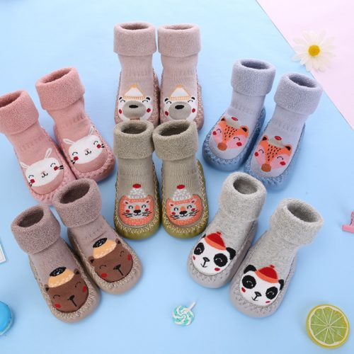 Kids Socks Slippers with Rubber Sole