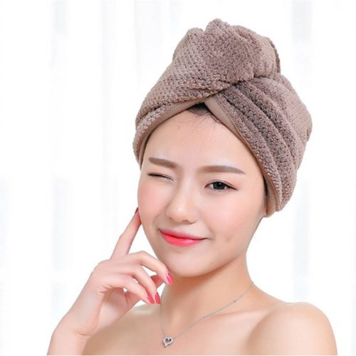 Microfiber Hair Turban Quick Dry Towel