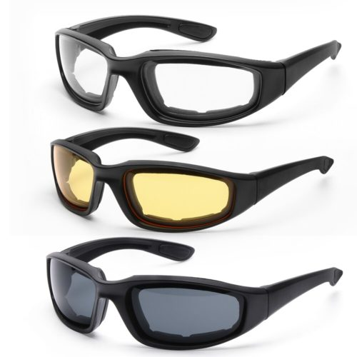 Motorcycle Padded Riding Glasses