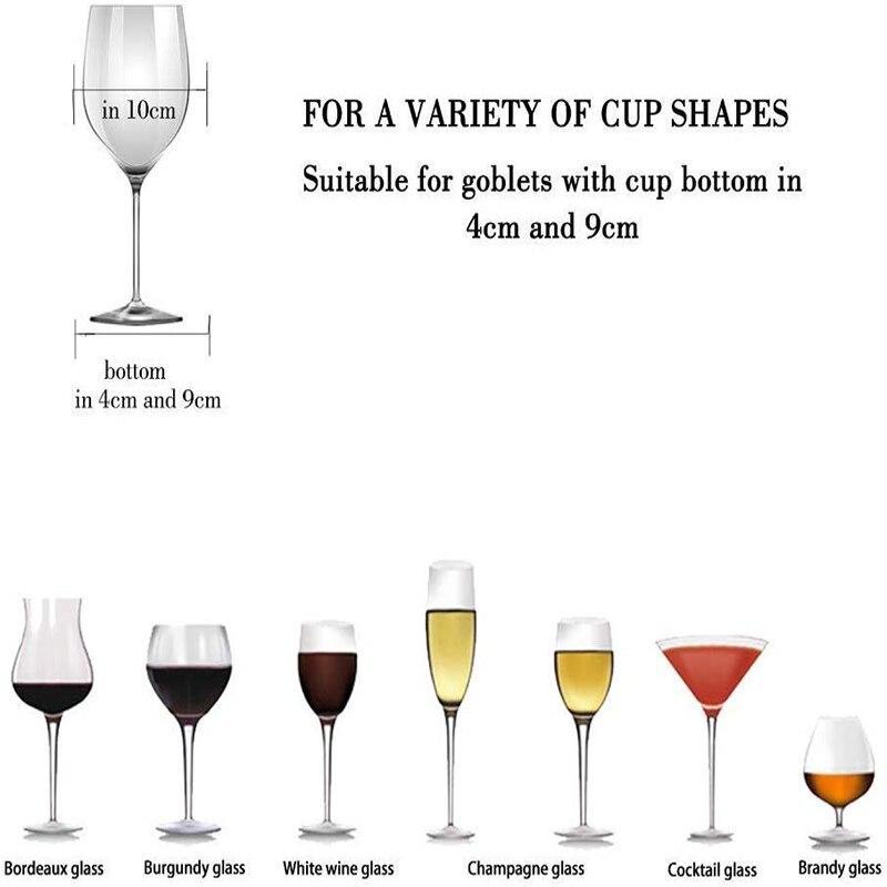 Wine Glass Rack Under Cabinet Stemware Holder Metal Wine Glass Organizer Glasses Storage Hanger for Bar Kitchen