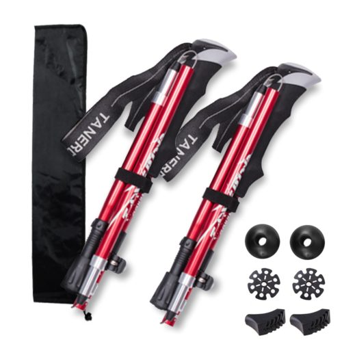 Hiking Poles 5-Section Foldable Trekking Stick