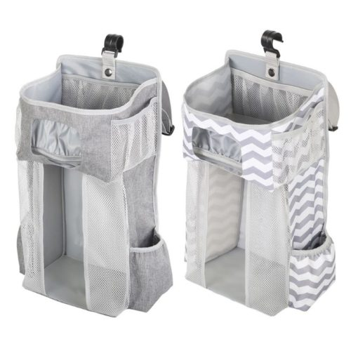 Hanging Diaper Caddy Crib Organizer