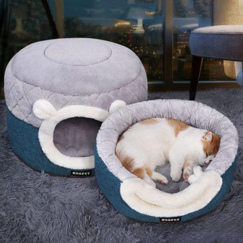 Cat Igloo Bed Pet Sleeping Kennel