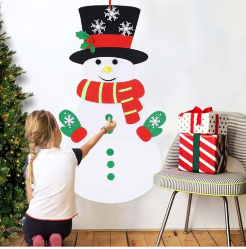Felt Snowman DIY Christmas Decor