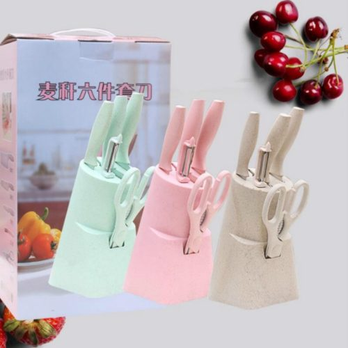 Knife Block Set in Pastel Color