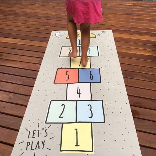 Hopscotch Mat Modern Kid's Play Mat