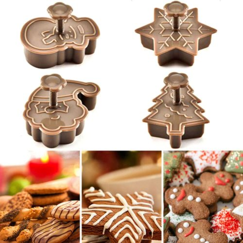Holiday Cookie Cutters 4-Piece Set