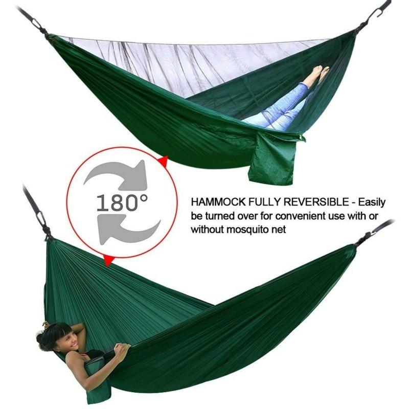 Camping Hammock with Mosquito Net Double Hammock Travel Hammock,Backpacking Hammock Portable Parachute Hammock