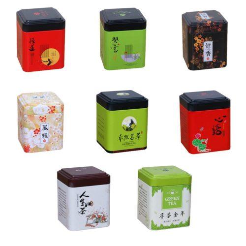 Tea Caddy Tin Mini Storage Container