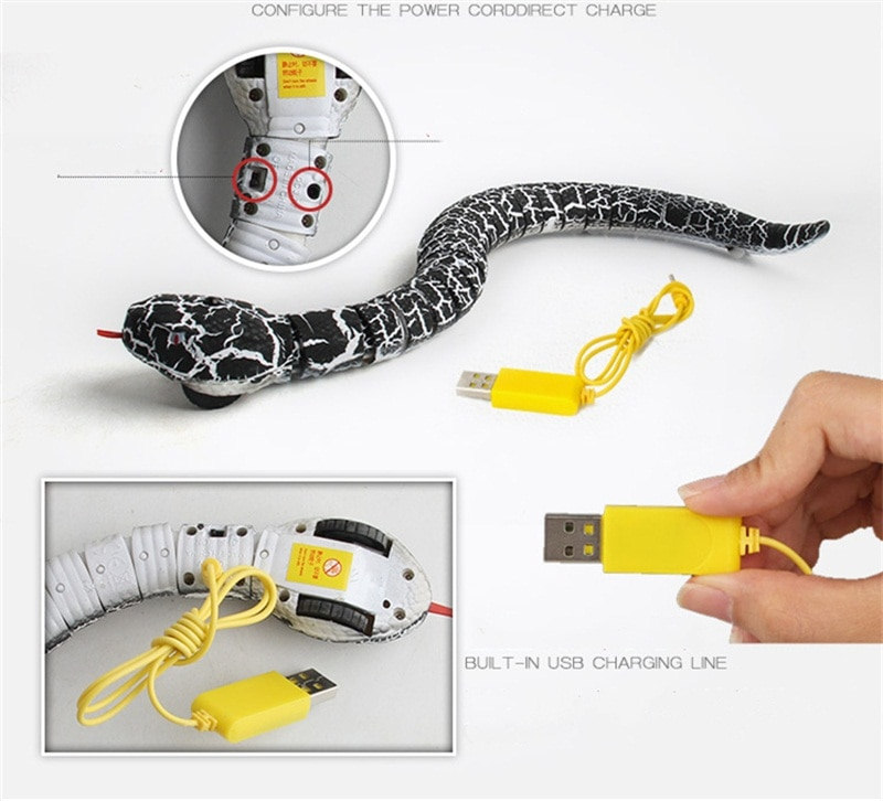 RC infrared Remote Control Snake And Egg Rattlesnake Animal Trick Terrifying Mischief Toys for Children Funny Novelty Gift