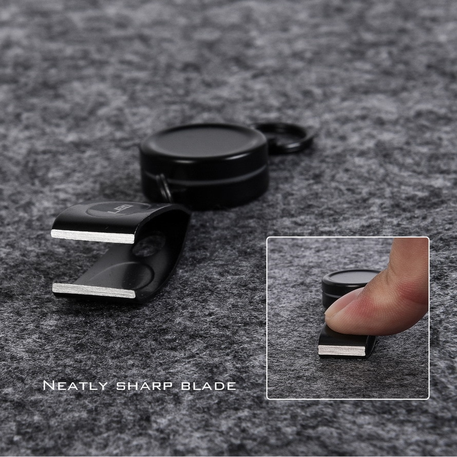 Leo Flexible Fishing Line Clipper 28072 Wearable Fishing Line Cutter Buckle Clipping Scissors Fishing Tools Stainless Steel