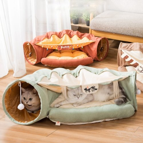 Cat Tunnel Bed Foldable Play Tunnel