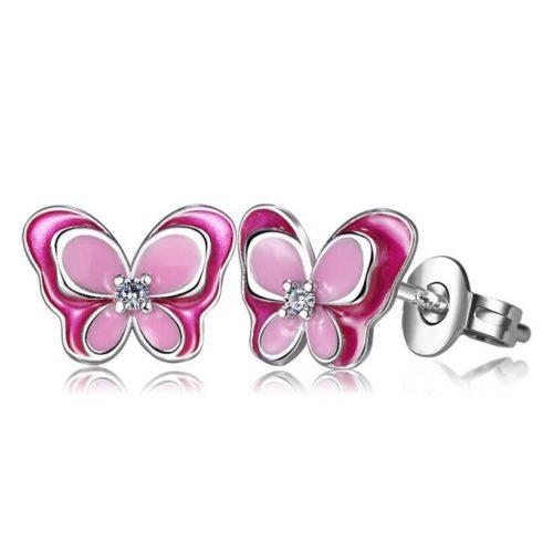 Girls Stud Earrings Butterfly Design