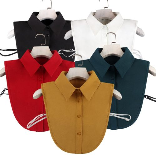 Fake Shirt Collar Blouse Top Decoration