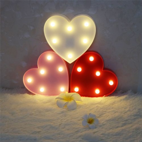 Heart Shaped Light Battery Powered Lamp