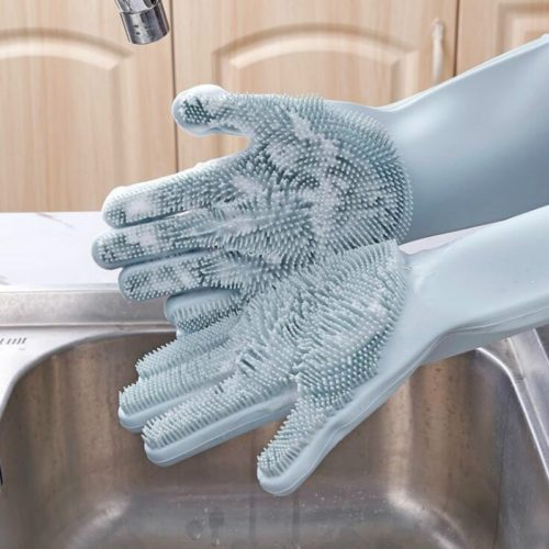 Dishwashing Gloves with Scrubber For Cleaning
