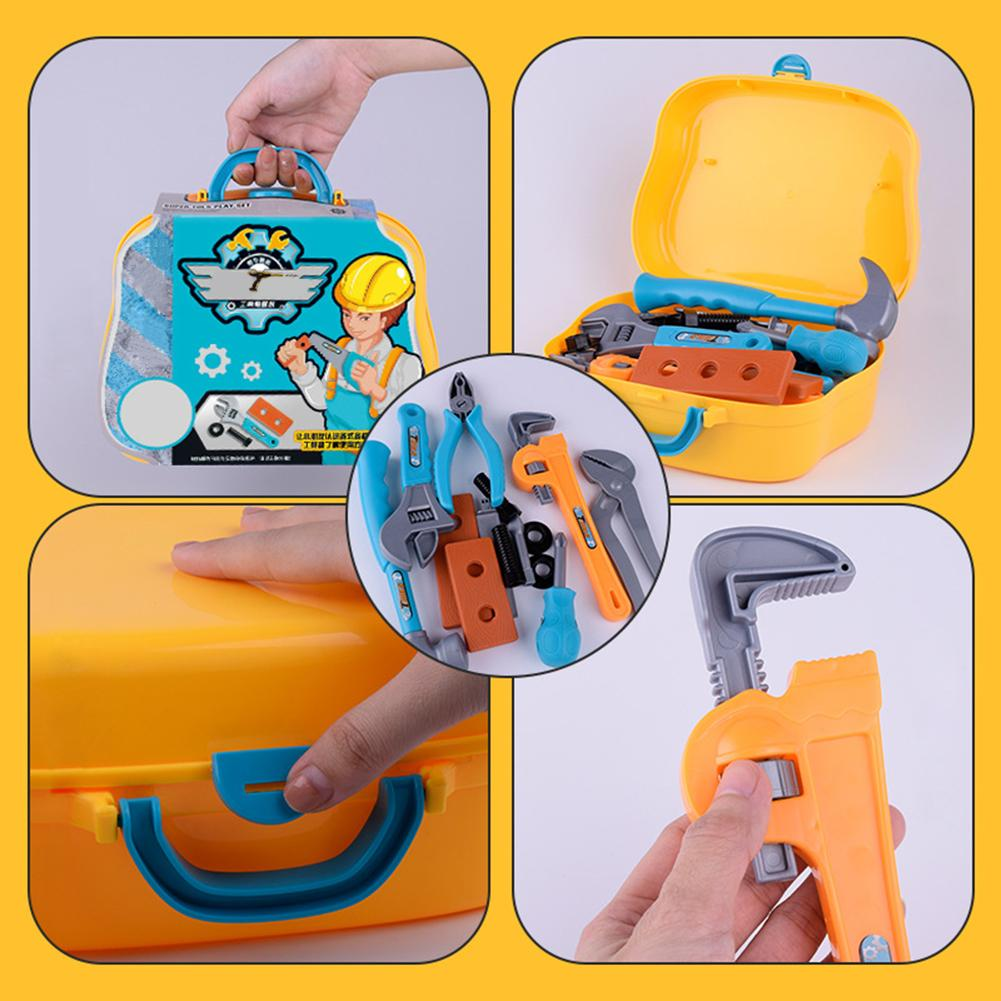 14pcs Educational Children Kids Portable Toolbox Toy Simulation Screwdriver Disassembly Repair Tool Set Pretend Play Toys