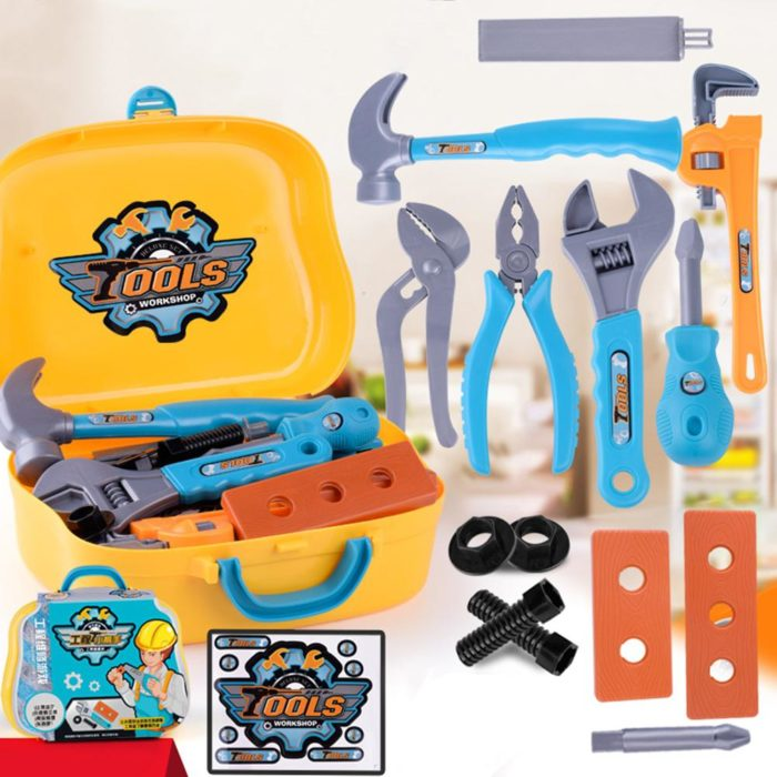 Toy Toolbox for Kids (14 Pcs)