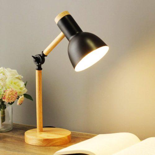 Wooden Study Desk Lamp