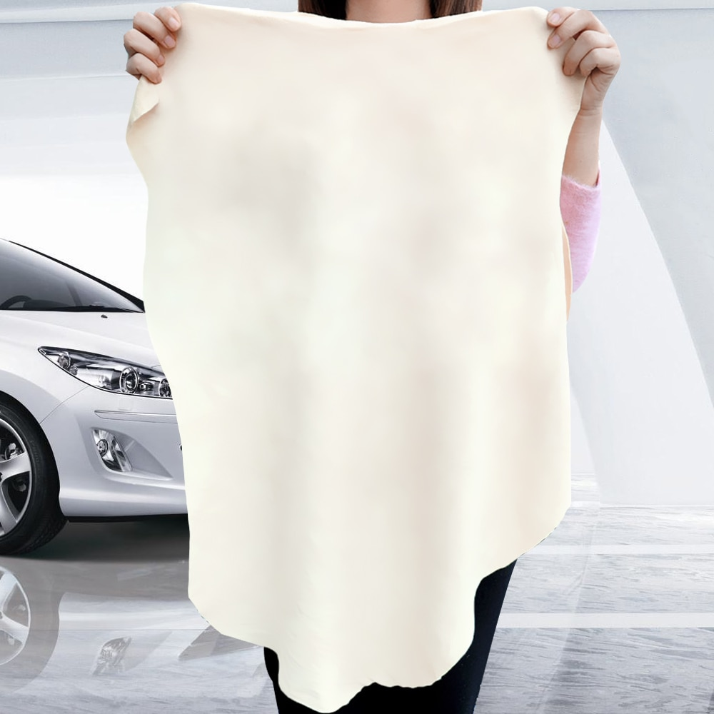 LEEPEE Absorbent Quick Dry Towel Suede Genuine Leather Car Wash Towel 5 Size Natural Chamois Leather Wash Car Cleaning Cloth