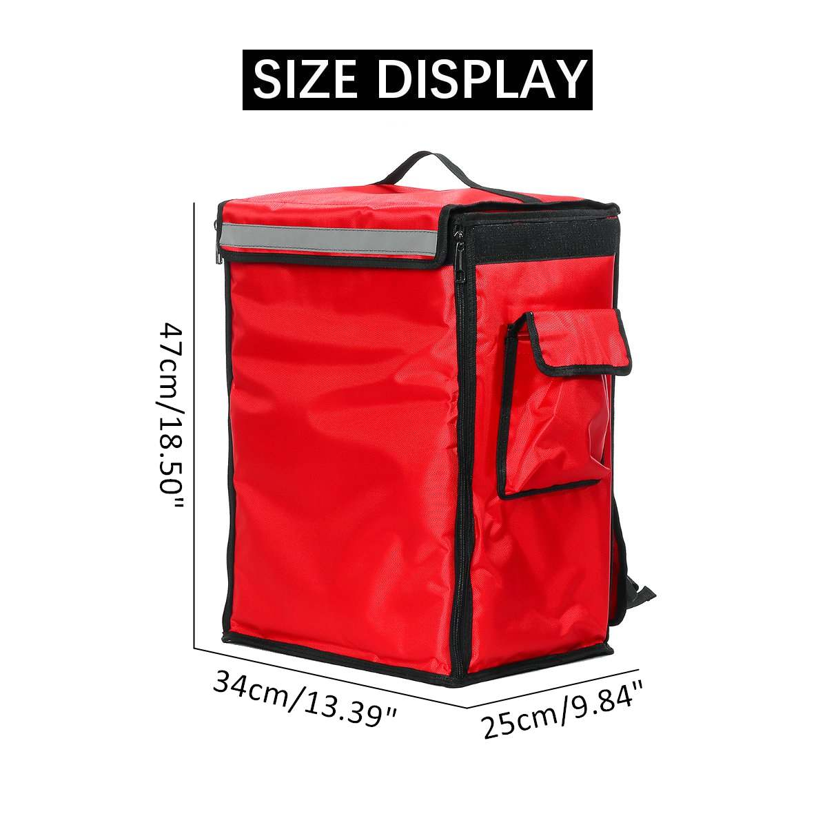 42L Thermal Insulated Bag Portable Pizza Food Delivery Bag Picnic Storage Scooter Backpack Cooler Bags Folding Insulation Pack