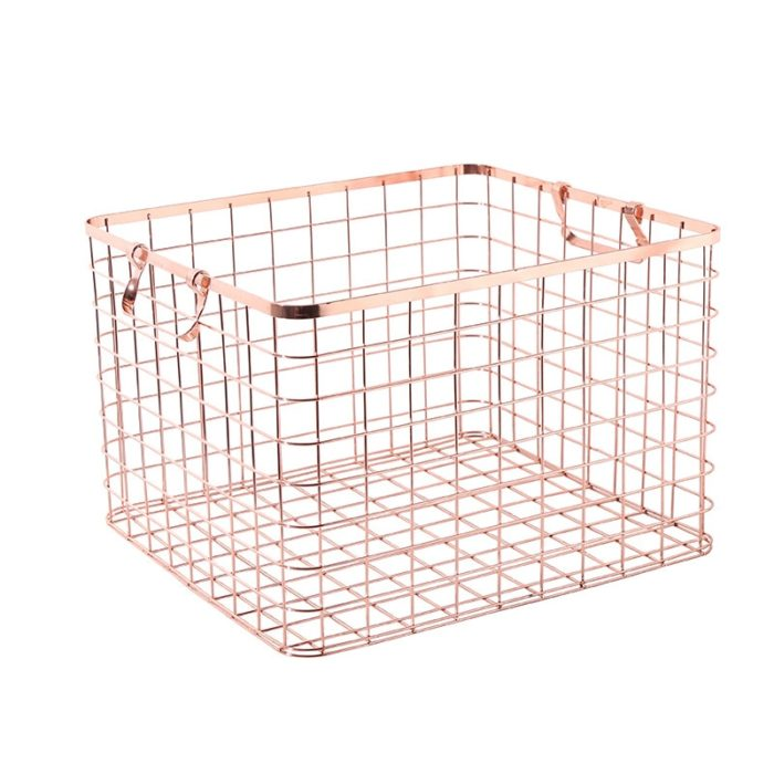 Gold Wire Basket Minimalist Style