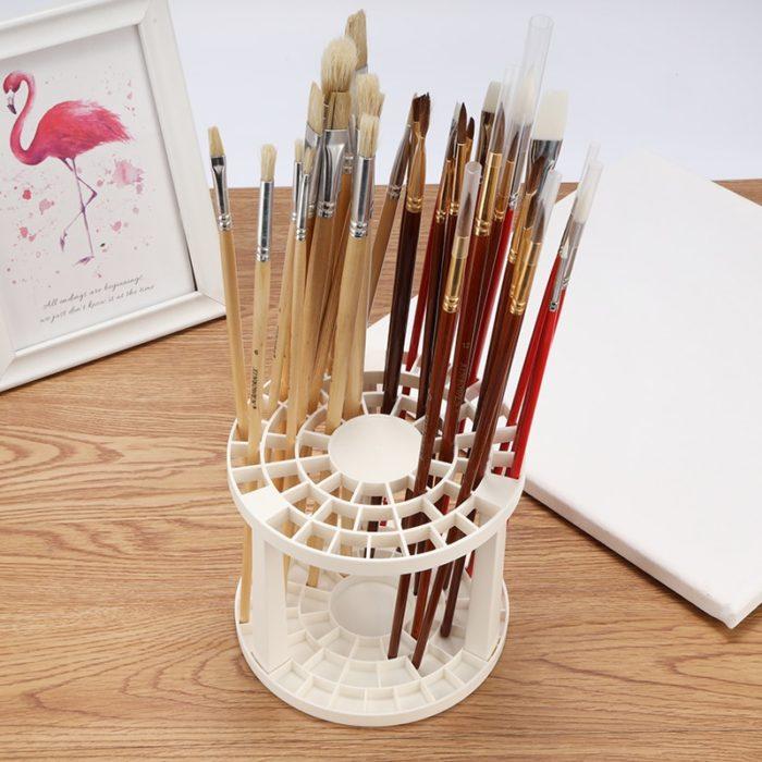 Paint Brush Storage 49-Hole Holder