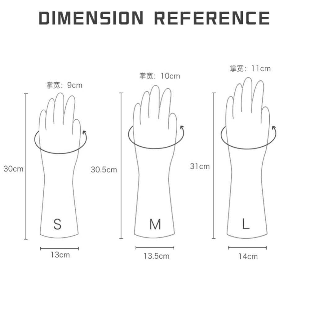 Female waterproof rubber latex dishwashing gloves kitchen durable cleaning housework chores dishwashing tools